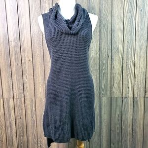 Sonoma Sleeveless Cowl Waffle Print Tunic Dress